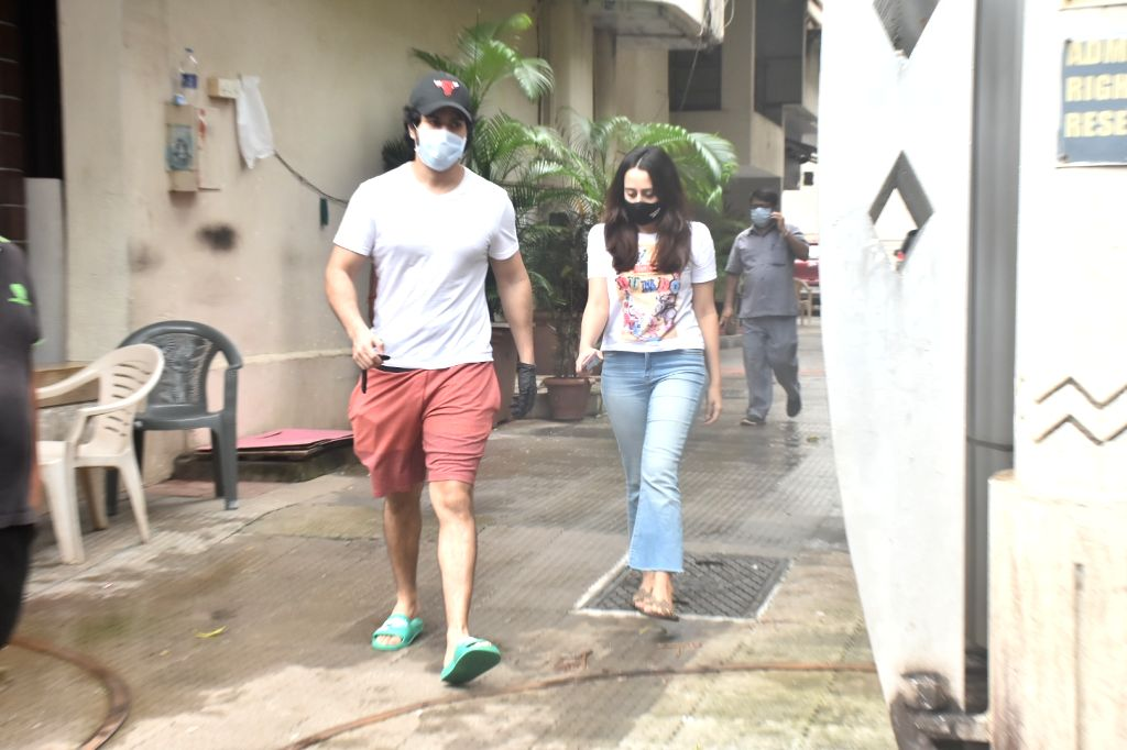 Actor Varun Dhawan and his girlfriend Natasha Dalal seen at Bandra in Mumbai on Aug 11, 2020. - Varun Dhawan