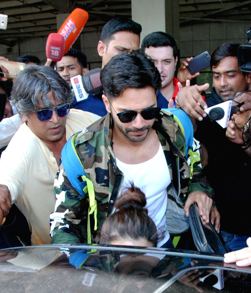 Actor Varun Dhawan arrives to perform in the opening ceremony of the 3rd Edition of Indian Super League (ISL) 2016 at Lokpriya Gopinath Bordoloi International Airport (LGBI) in Guwahati on ... - Varun Dhawan