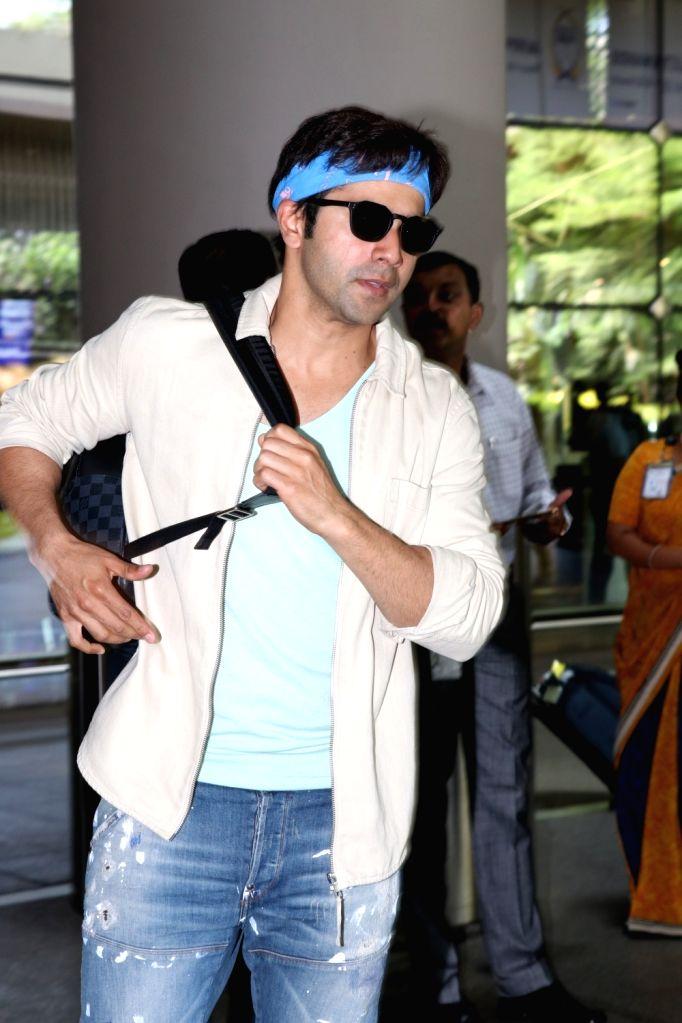 Actor Varun Dhawan at Mumbai airport on May 24, 2017. - Varun Dhawan