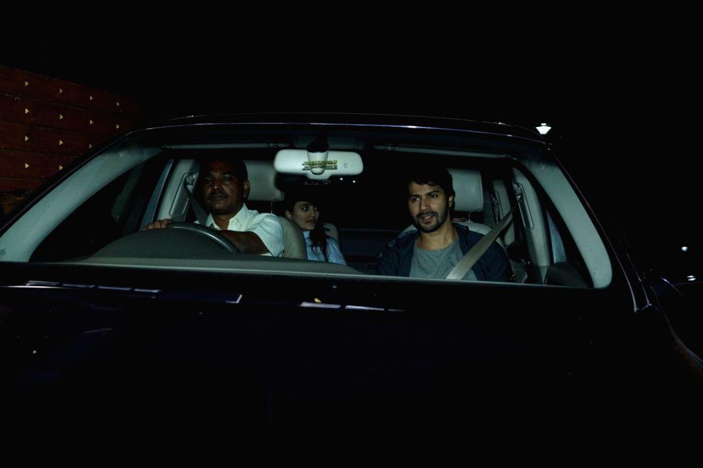 "Actor Varun Dhawan at the special screening of film ""Pad Man"" in Mumbai on Feb 8, 2018. - Varun Dhawan"