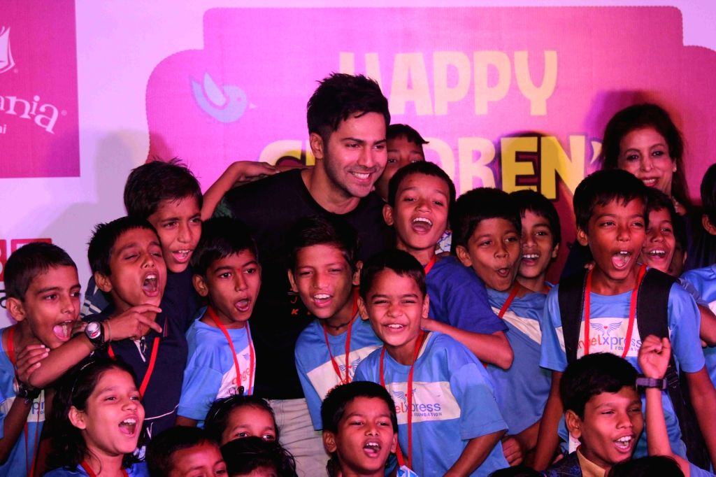 Actor Varun Dhawan celebrates Children's Day at KidZania, in Mumbai, on Nov 14, 2016. - Varun Dhawan
