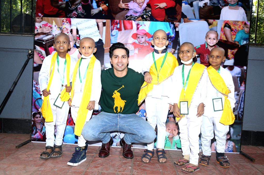 Actor Varun Dhawan during a programme with cancer patient childrens , in Mumbai on Dec 15, 2019. - Varun Dhawan