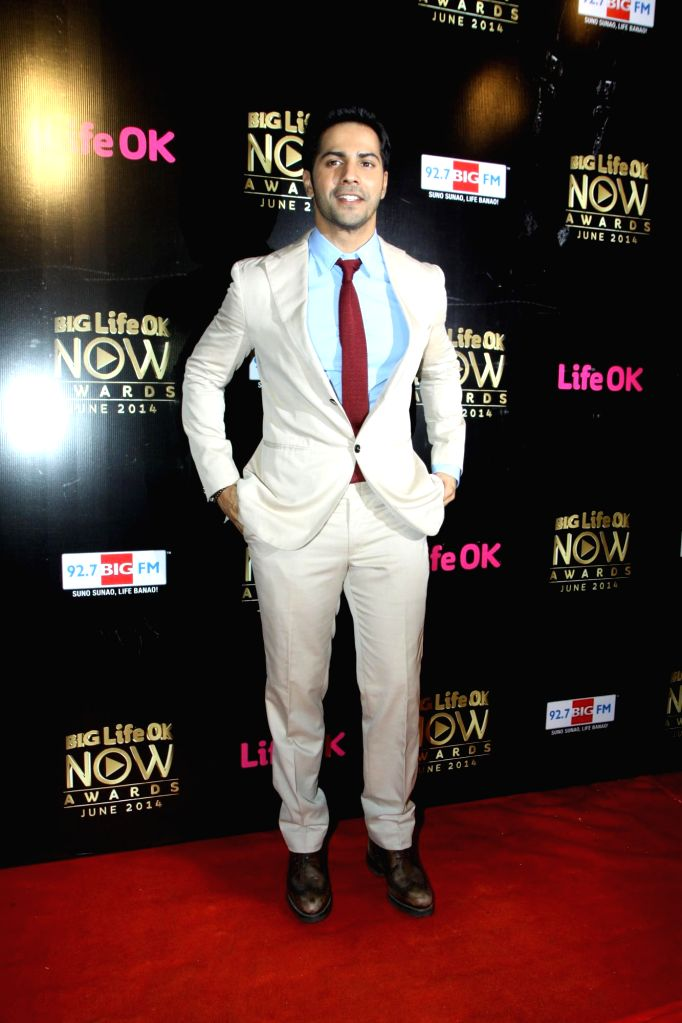 Actor Varun Dhawan during the Big Life OK Now Award 2014 in Mumbai on June 23, 2014. - Varun Dhawan