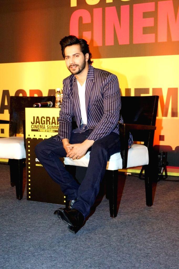 "Actor Varun Dhawan during the ""Jagran Cinema Host Summit"" to Discuss Future of Film in Mumbai on Sept 15, 2017. - Varun Dhawan"