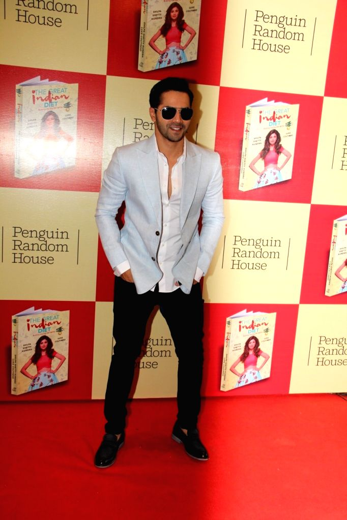 Actor Varun Dhawan during the launch of Shilpa Shetty`s book The Great Indian Diet in Mumbai, on Nov 19, 2015. - Varun Dhawan