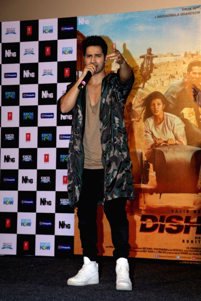 Actor Varun Dhawan during the promotion of film Dishoom, in Mumbai on July 2, 2016. - Varun Dhawan