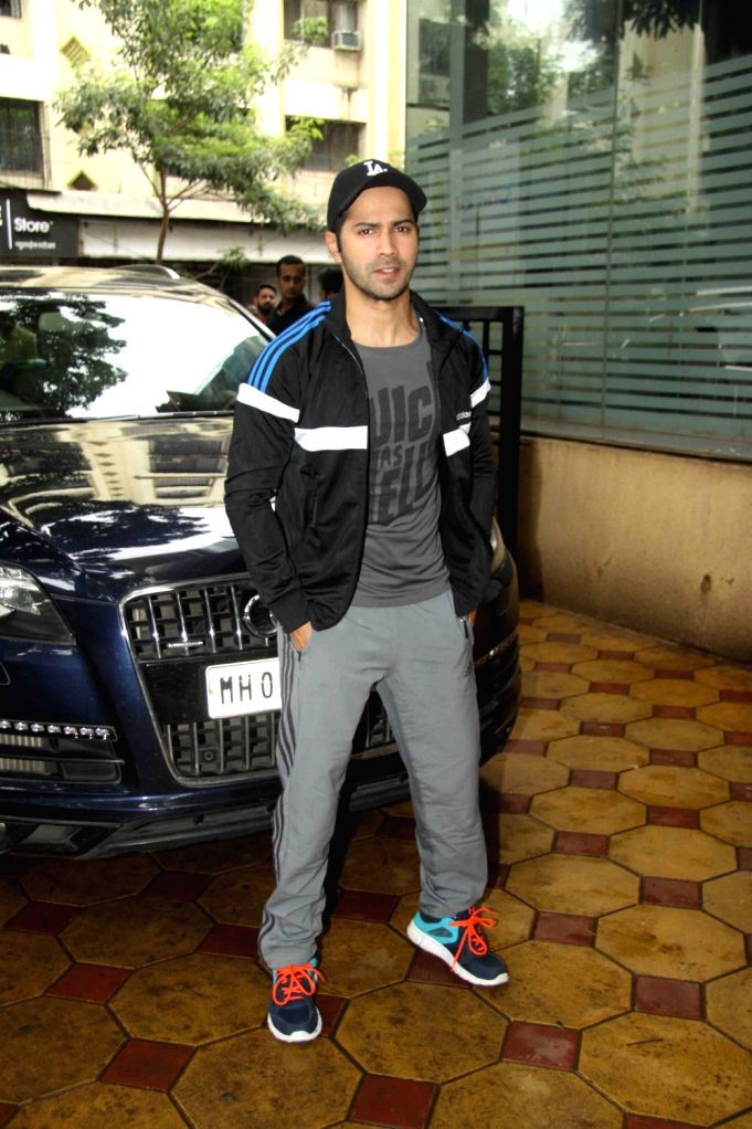 Actor Varun Dhawan during the promotion of film Dishoom at Gold's Gym in Mumbai on July 9, 2016. - Varun Dhawan