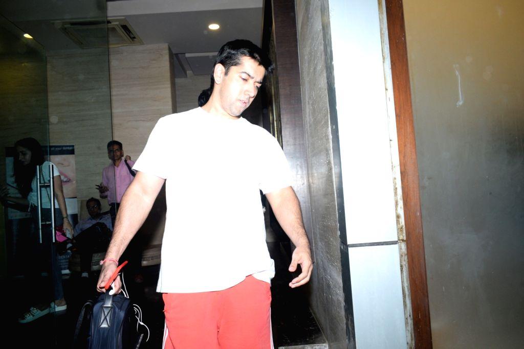 Actor Varun Dhawan's brother Rohit Dhawan seen at the actor's office at Juhu, Mumbai on June 14, 2019. - Varun Dhawa