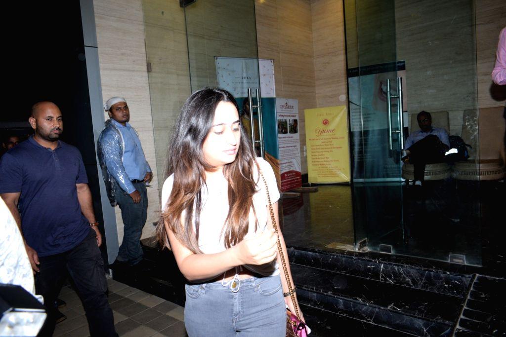 Actor Varun Dhawan's girlfriend Natasha Dalal seen at the actor's office at Juhu, Mumbai on June 14, 2019. - Varun Dhawa