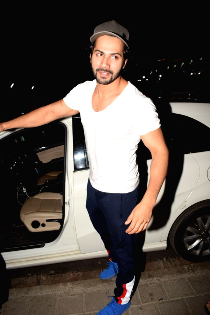 Actor Varun Dhawan seen at a cinema theater in Mumbai on May 1, 2018. - Varun Dhawan