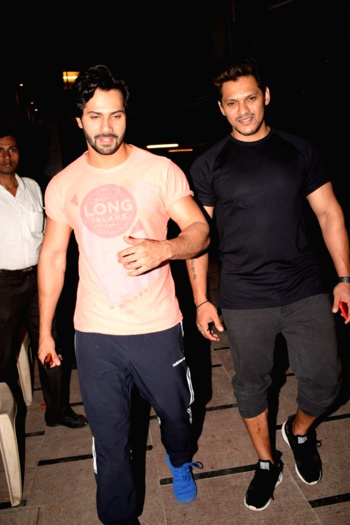 Actor Varun Dhawan seen at a gym in Juhu, Mumbai on May 22, 2018. - Varun Dhawan
