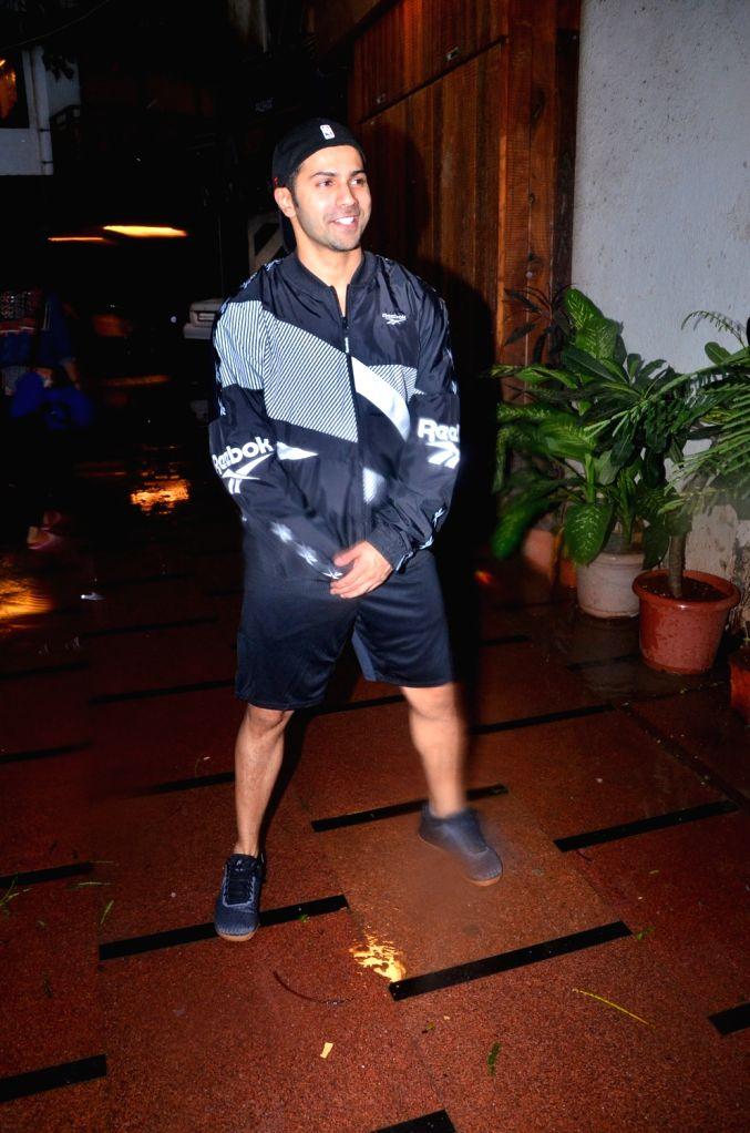 Actor Varun Dhawan seen at a gym in Juhu, Mumbai on July 29, 2019. - Varun Dhawan
