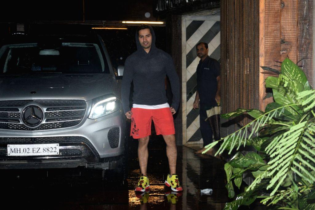 Actor Varun Dhawan seen at a gym in Juhu, Mumbai on July 30, 2019. - Varun Dhawan