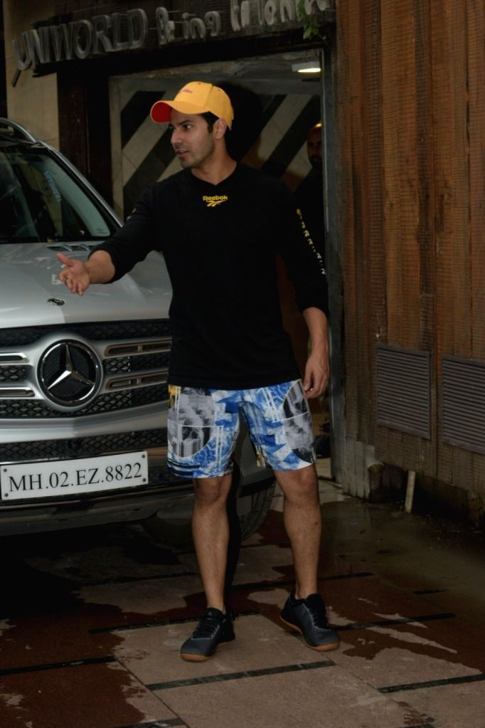 Actor Varun Dhawan seen at a gym in Juhu, Mumbai on Sep 25, 2019. - Varun Dhawan