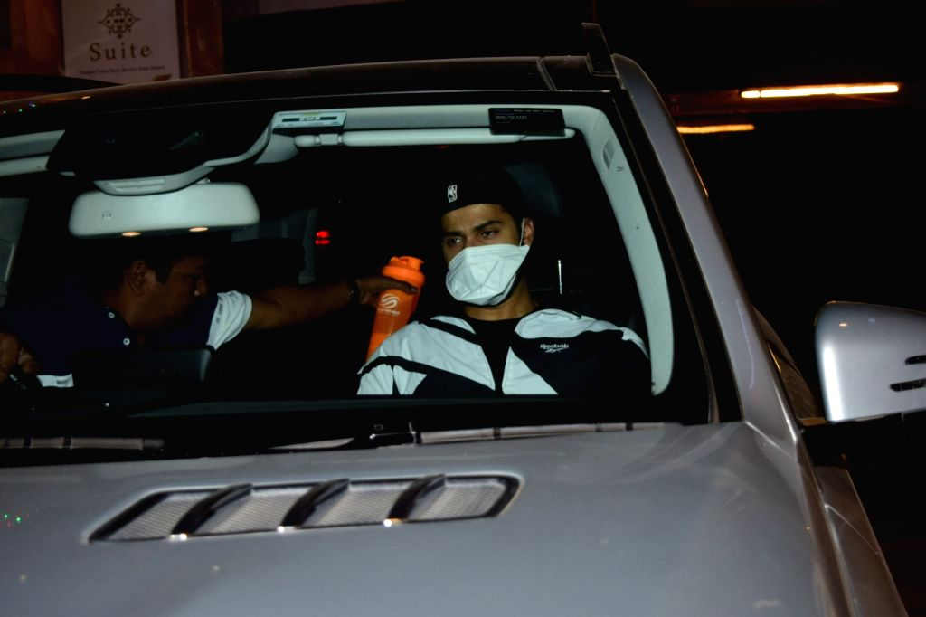 Actor Varun Dhawan seen at a gym in Mumbai's Juhu on March 13, 2020. - Varun Dhawan