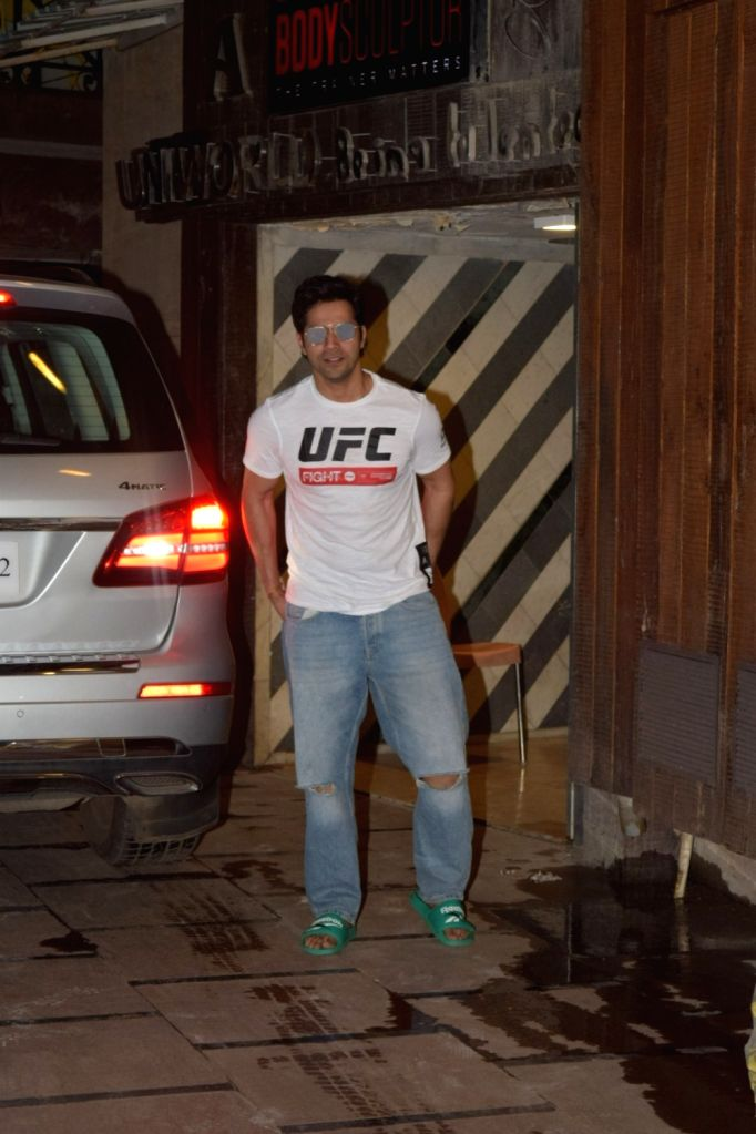 Actor Varun Dhawan seen at a Mumbai gym on Oct 30, 2019. - Varun Dhawan