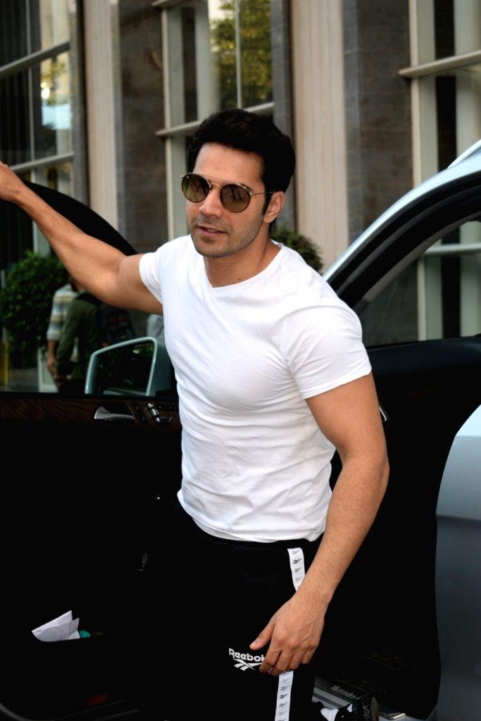 Actor Varun Dhawan seen at Andheri in Mumbai, on Aug 28, 2019. - Varun Dhawan