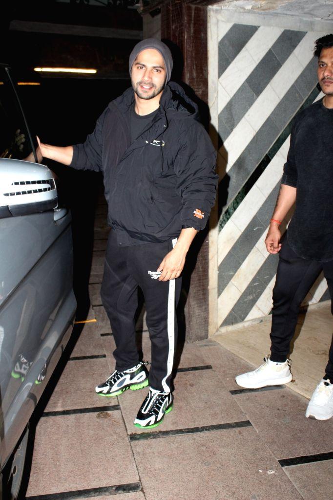 Actor Varun Dhawan seen at Juhu, in Mumbai on Feb 10, 2020. - Varun Dhawan