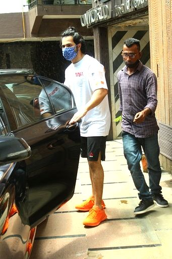 Actor Varun Dhawan seen at Juhu in Mumbai on Sep 1, 2020. - Varun Dhawan