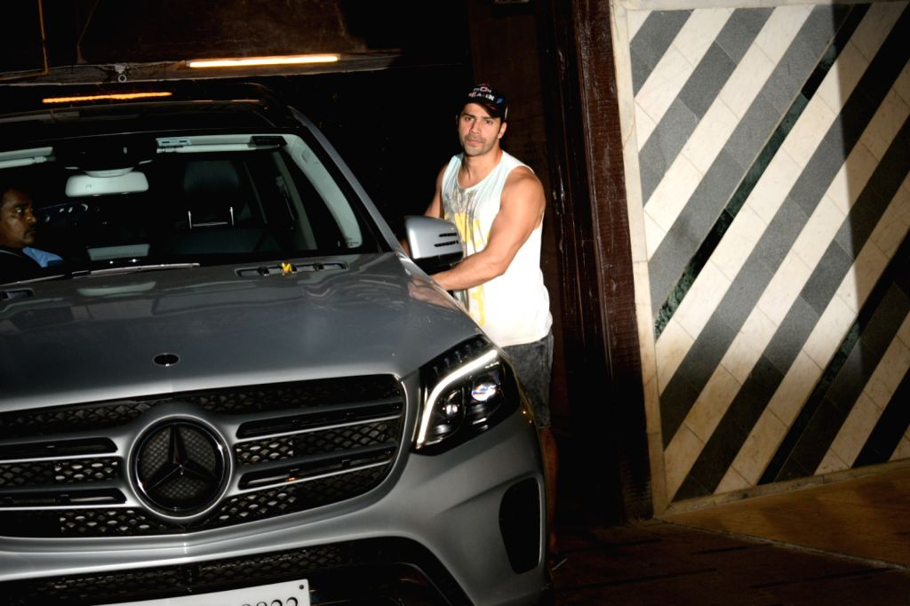 Actor Varun Dhawan seen at Mumbai's Juhu on May 4, 2019. - Varun Dhawan