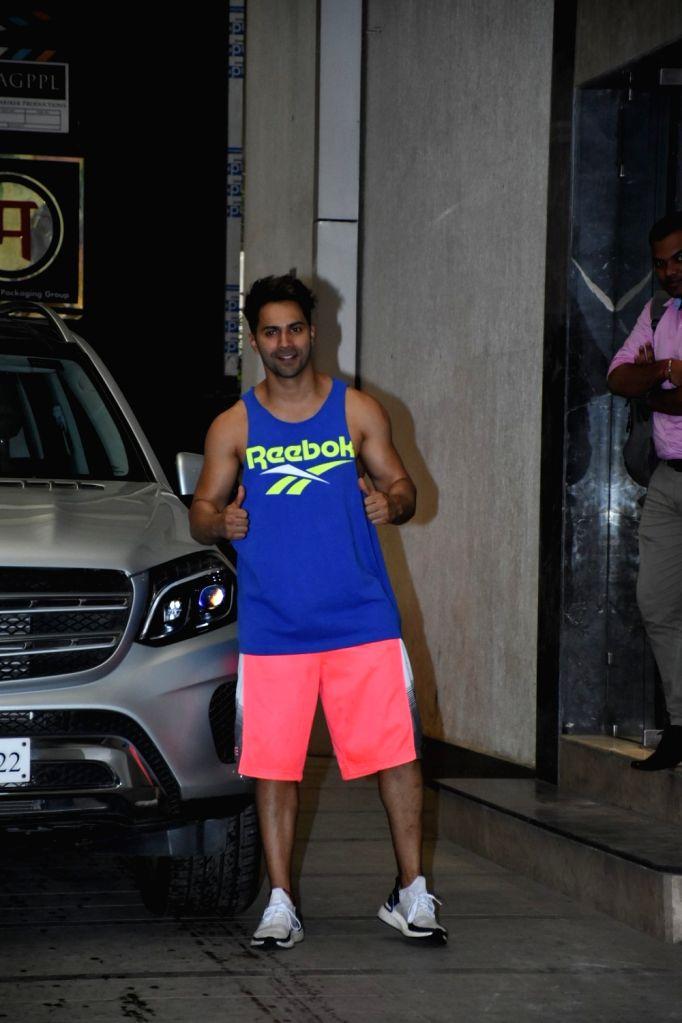 Actor Varun Dhawan seen outside a gym at Bandra, in Mumbai on June 11, 2019. - Varun Dhawan