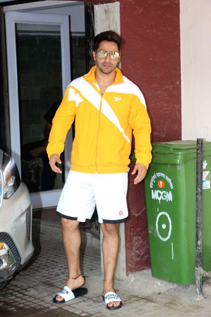 Actor Varun Dhawan seen outside a gym at Bandra, in Mumbai, on June 13, 2019. - Varun Dhawan
