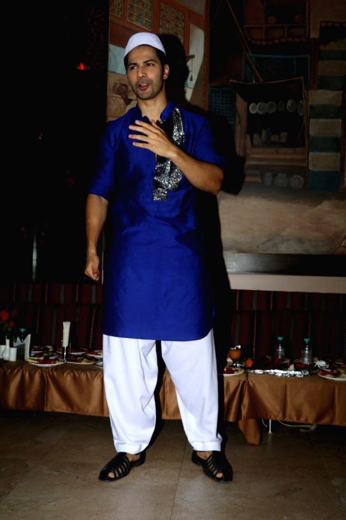 Actor Varun Dhawan visits Persian Darbar hotel for  Roza Iftar Party  in Mumbai  on June 29, 2016. - Varun Dhawan