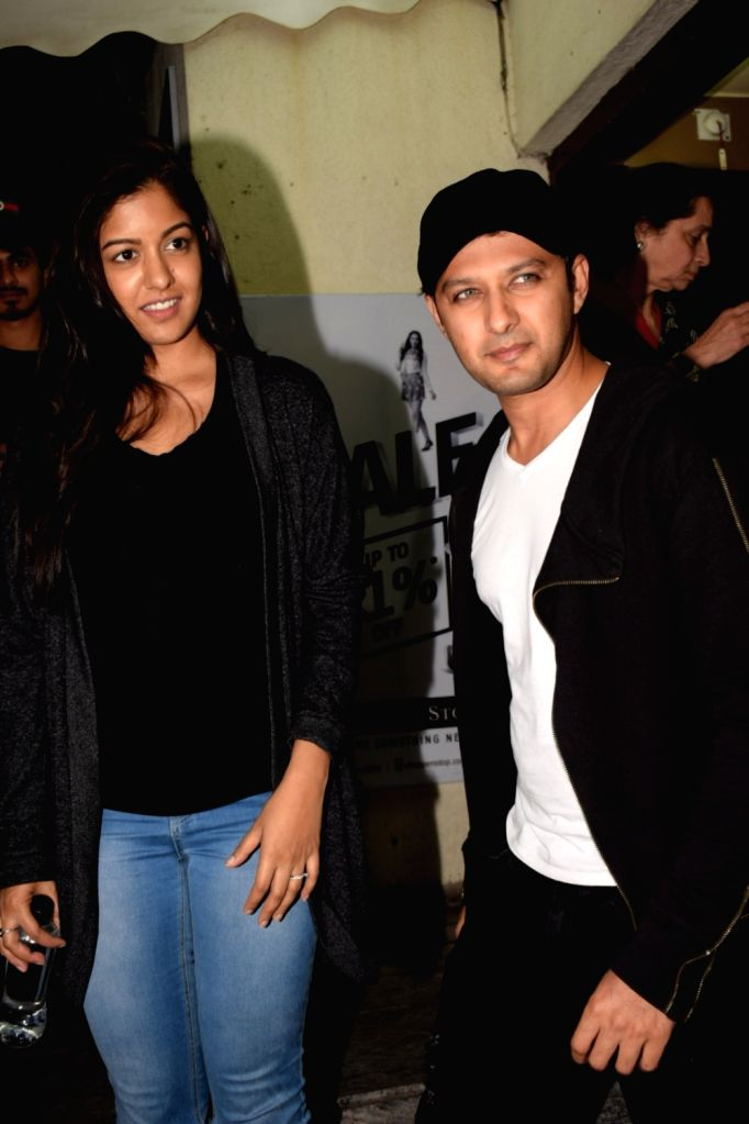 Actor Vatsal Sheth along with his wife Ishita Dutta seen at cinema theater in Juhu, Mumbai on Feb 6, 2018. - Vatsal Sheth