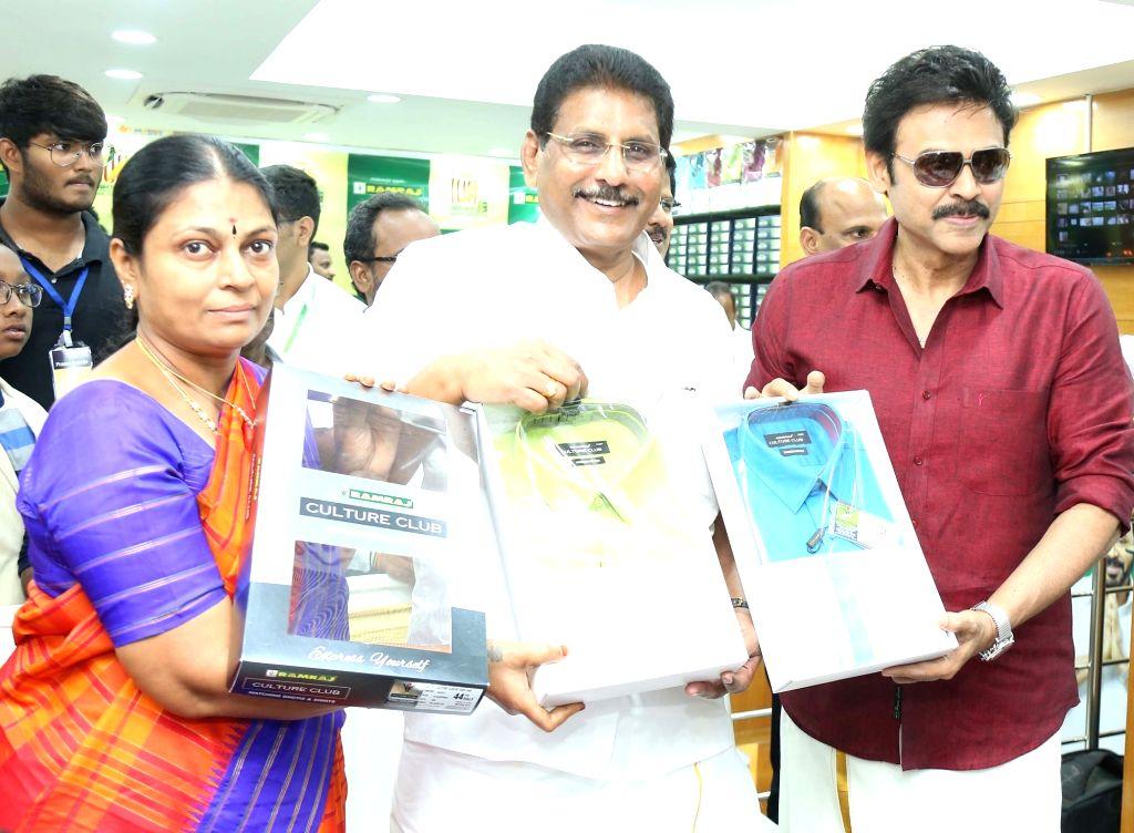 Actor Venkatesh Daggubati lauches 100th Showroom of RamRaj Cotton in Nellore - Venkatesh Daggubati