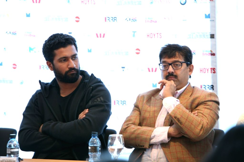 Actor Vicky Kaushal and screenwriter Abhijat Joshi at the Indian Film Festival of Melbourne (IFFM) in Melbourne on Aug 10, 2018. - Vicky Kaushal and Abhijat Joshi