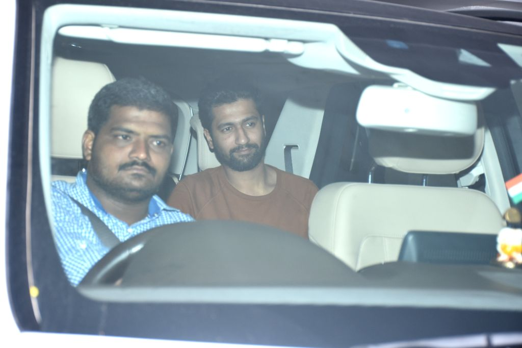 Actor Vicky Kaushal arrives at filmmaker Karan Johar's house party in Mumbai, on July 27, 2019. - Vicky Kaushal