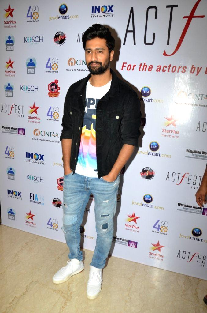 Actor Vicky Kaushal at CINTAA's ActFest in Mumbai, on Feb 16, 2019. - Vicky Kaushal