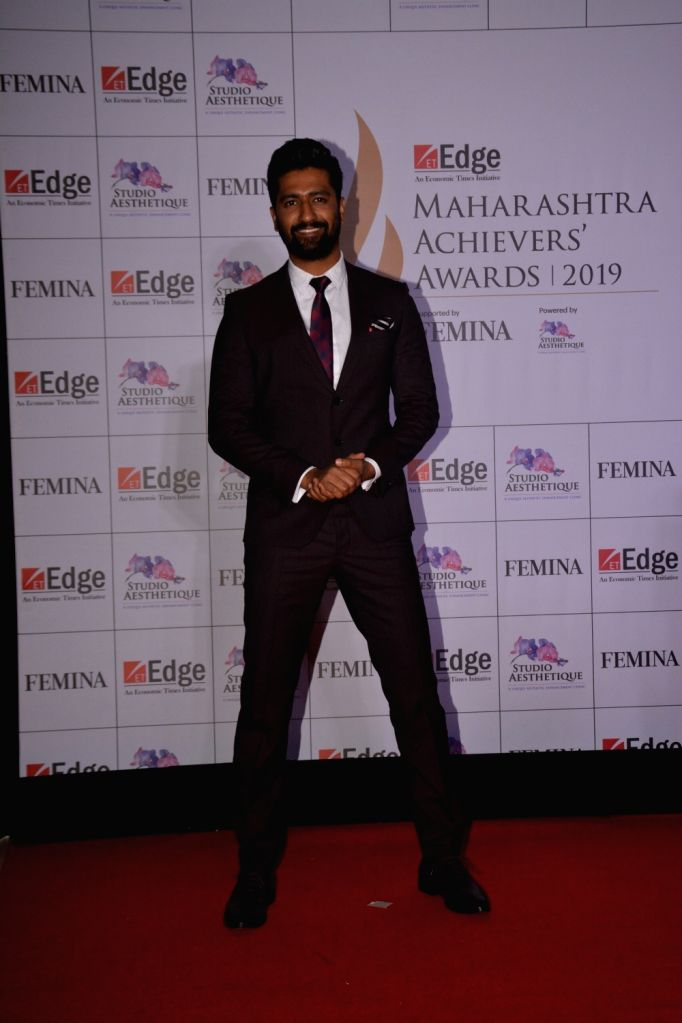 Actor Vicky Kaushal at ET Edge Maharashtra Achievers' Awards 2019 in Mumbai, on March 14, 2019. - Vicky Kaushal