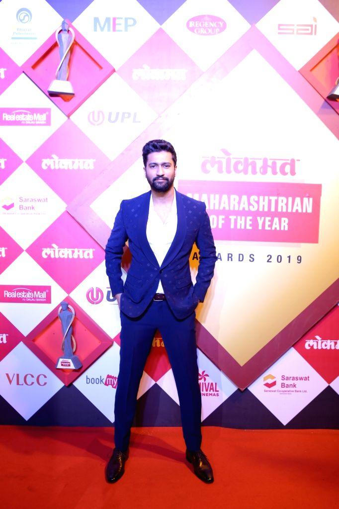 Actor Vicky Kaushal at Lokmat Maharashtrian of the Year Awards 2019 in Mumbai, on Feb 20, 2019. - Vicky Kaushal