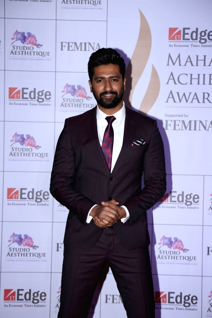 Actor Vicky Kaushal at Maharashtra Achievers' Awards 2019 in Mumbai, on March 14, 2019. - Vicky Kaushal