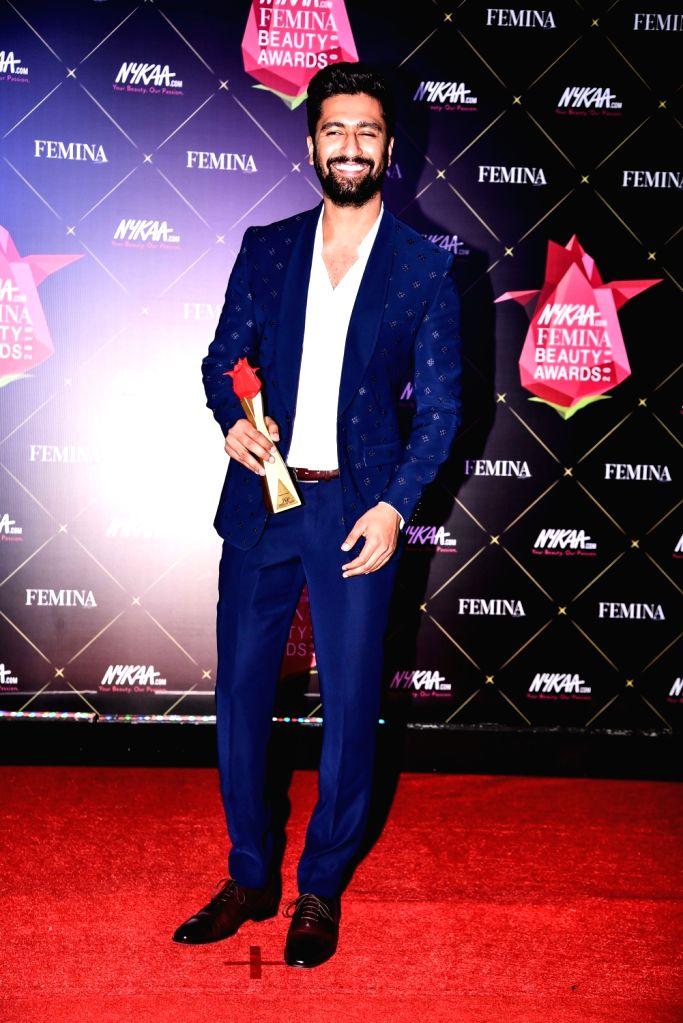Actor Vicky Kaushal at Nykaa Femina Beauty Awards 2019, in Mumbai, on Feb 20, 2019. - Vicky Kaushal