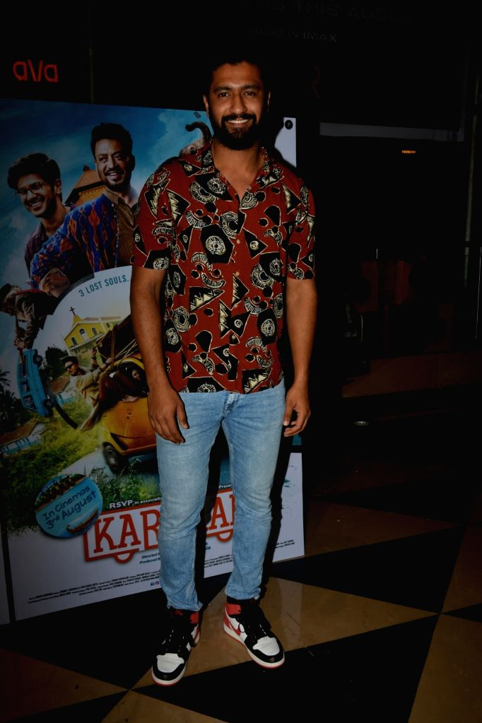 """Actor Vicky Kaushal at the special screening of upcoming film """"Karwaan"""", in Mumbai on Aug 2, 2018. - Vicky Kaushal"""