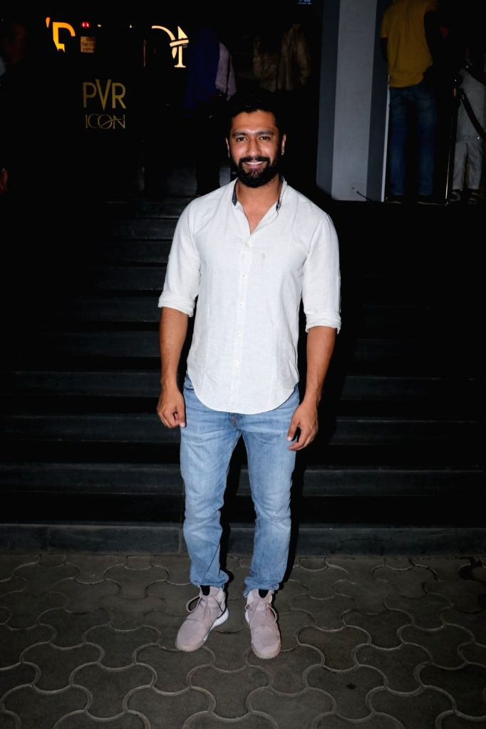 "Actor Vicky Kaushal at the special screening of film ""Mulk"" in Mumbai on Aug 2, 2018. - Vicky Kaushal"