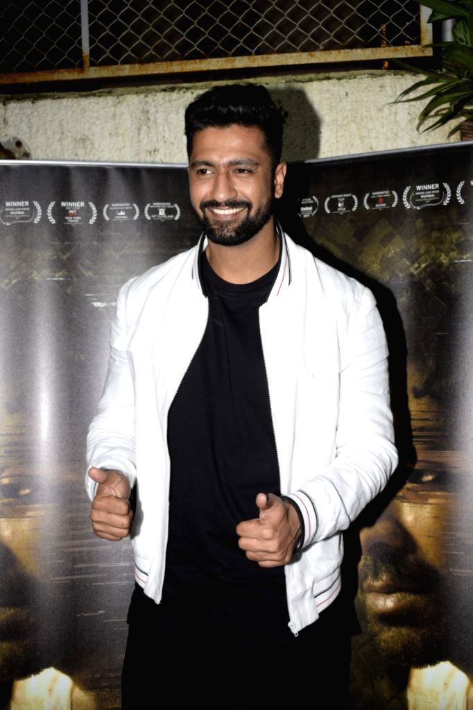"""Actor Vicky Kaushal at the special screening of upcoming film """"Gali Guleiyan"""", in Mumbai on Sept 3, 2018. - Vicky Kaushal"""