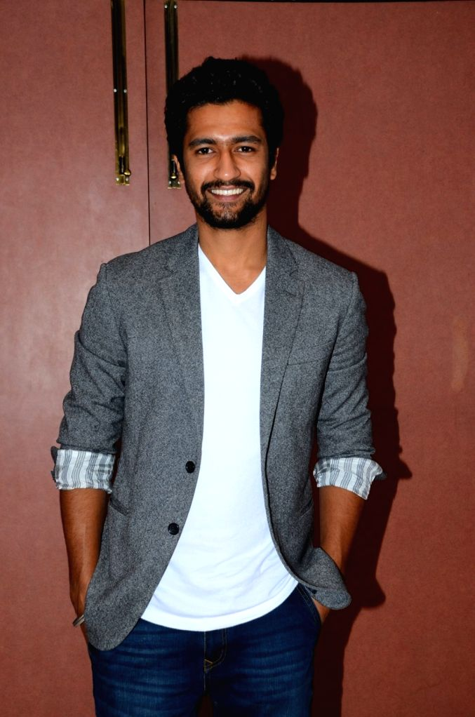 Actor Vicky Kaushal during the promotion of film Zubaan in Mumbai on Jan 23, 2016. - Vicky Kaushal