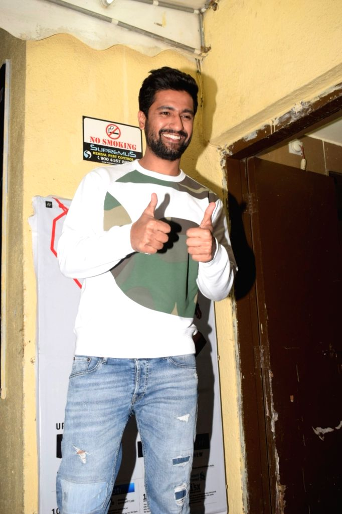 "Actor Vicky Kaushal during the screening of film ""Uri"", in Mumbai on Jan 9, 2019. - Vicky Kaushal"