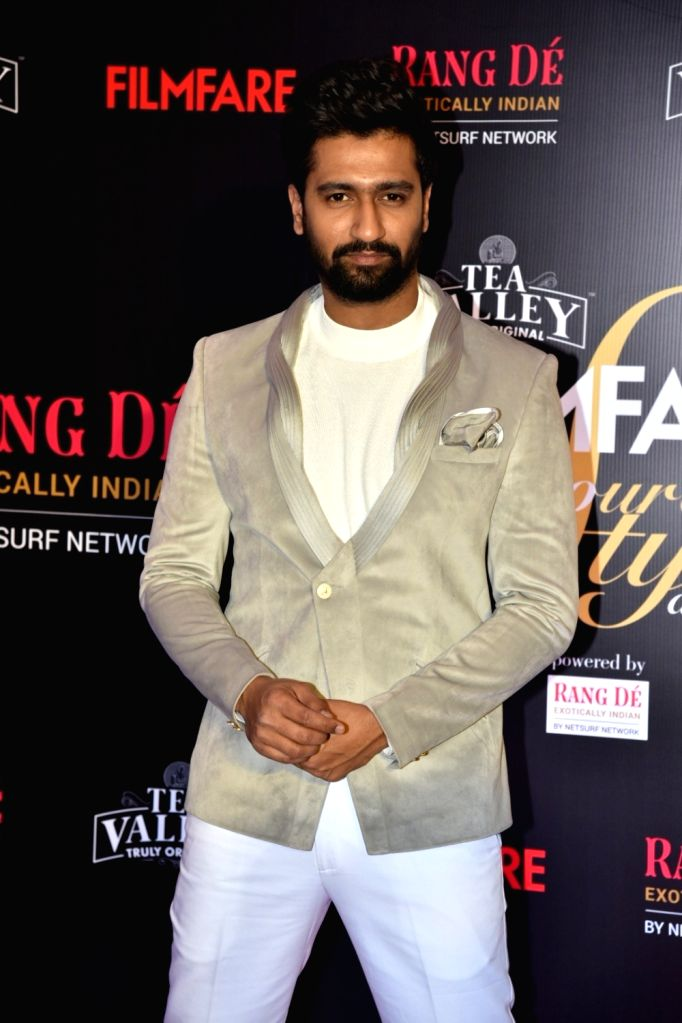 Actor Vicky Kaushal on the red carpet of Filmfare Glamour And Style Awards 2019, in Mumbai on Feb 11, 2019. - Vicky Kaushal