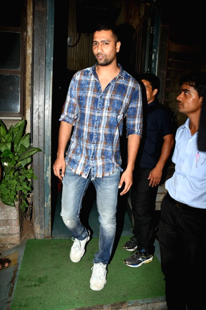 Actor Vicky Kaushal seen outside a cafe in Mumbai's Bandra, on May 8, 2019. - Vicky Kaushal