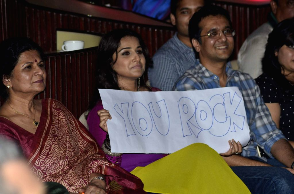Actor Vidya Balan during the charity music concert `WE` to raise funds for Salaam Bombay Foundation children in Mumbai  Sept 11, 2014.