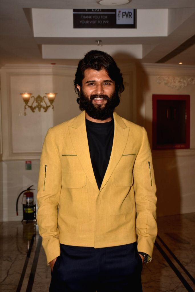 "Actor Vijay Devarakonda during the screening of his film ""Dear Comrade"" in Mumbai on Sep 3, 2019. - Vijay Devarakonda"