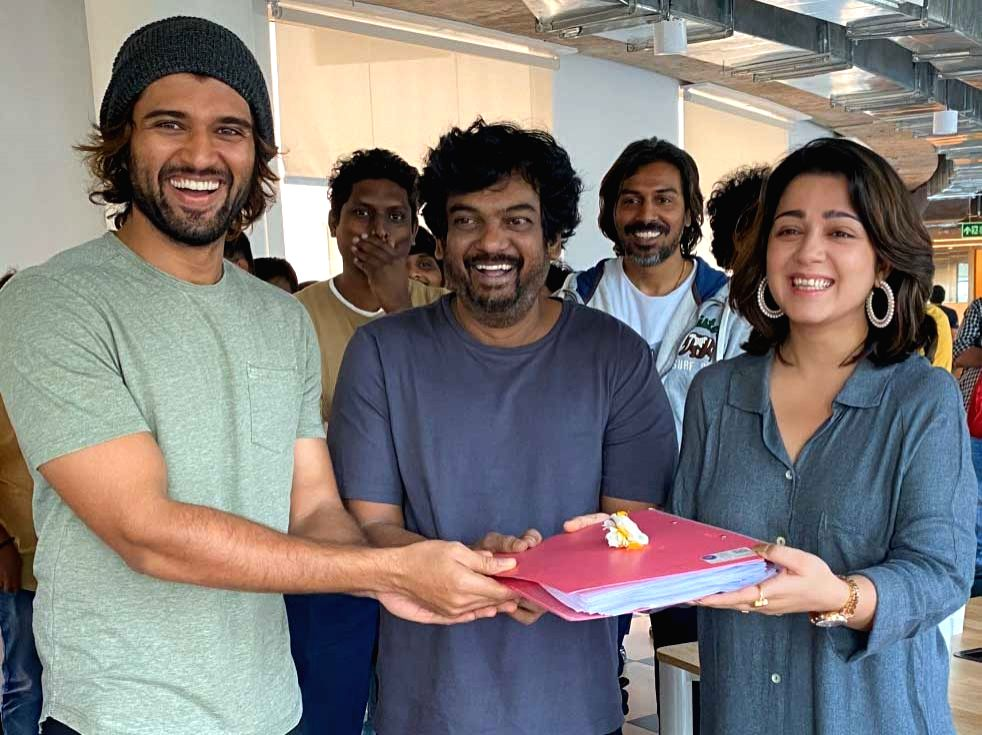 "Actor Vijay Deverakonda's new yet-untitled Telugu film with director Puri Jagannadh went on the floors here on Monday. The project, which is rumoured to be titled ""Fighter"", marks the maiden collaboration of Vijay and Puri Jagannadh. - Vijay Deverakond"