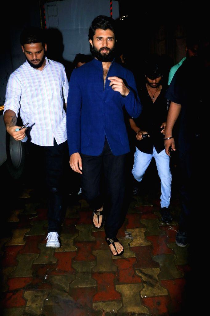 Actor Vijay Deverakonda seen at Filmalaya Studio in Mumbai on Sep 8, 2019. - Vijay Deverakonda