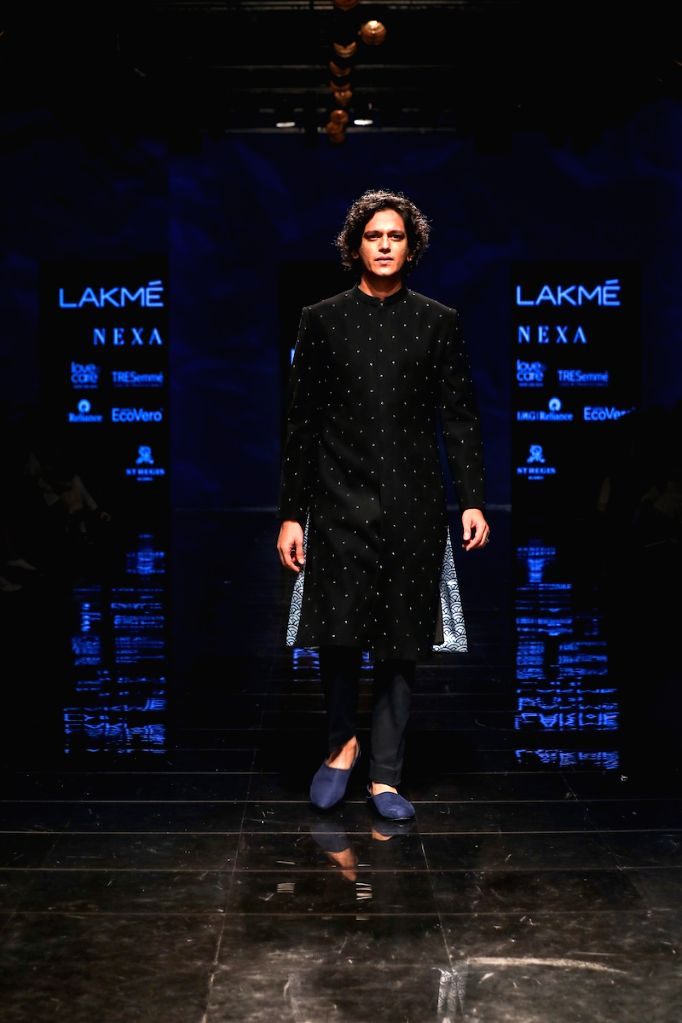 Actor Vijay Verma walks the ramp for fashion designer Tisa on Day 5 of the Lakme Fashion Week Winter/Festive 2019 in Mumbai on Aug 25, 2019. - Vijay Verma