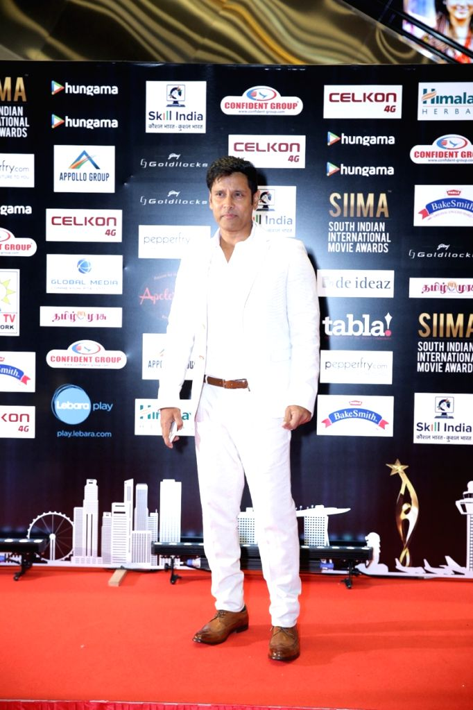 Actor Vikram on the second day of SIIMA Awards 2016. - Vikram