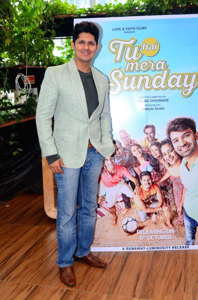 "Actor Vishal Malhotra during the promotion of his upcoming film ""Tu Hai Mera Sunday"" in Mumbai on Sept 17, 2017. - Vishal Malhotra"